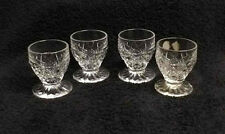 Dominique Bohemia 4 Pc Lead Crystal Cordial Glasses Goblets Set Czech Republic