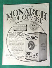 1922 Vintage Magazine Ad ~ Monarch Coffee ~ Case for $59.85!!!
