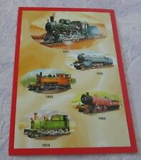 *POSTCARD* 5 OLD TRAINS * from 1902 to 1931