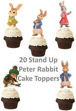 Peter Rabbit Edible Wafer Card Stand up Cake toppers x 20 Thick Quality Card
