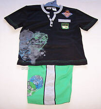 Cartoon Network Ben 10 Alien Boys Black Green Grey Printed Pyjama Set Size 6 New