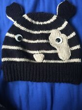 River Island Novelty Stripy Animal Knitted Beanie Hat