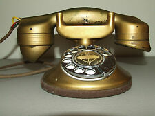 Antique Working 1920's Automatic Electric Monophone Art Deco Phone Rings & Dials
