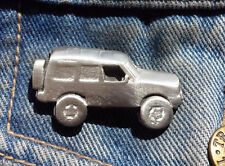 Disco 4X4 Car Pewter Pin Badge