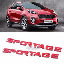 Side Front Trunk Mini Emblem Point Logo Badge Red for KIA 2017 Sportage QL