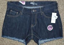 Old Navy Women's The Diva Denim Cut-off Dark Blue Jean Shorts size 4