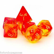 Red Gem Blitz poly dice set 7 polynomial for d20 RPG roleplay