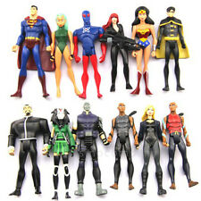 12pcs DC Universe YOUNG JUSTICE Super Man Robin Micron Comic Figure Boy Toy Doll