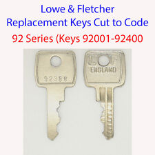 2 x Lowe & Fletcher Replacement Filing Cabinet Key 92 Series Keys 92001-92400