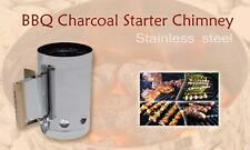 Stainless - Charcoal BBQ Fire Starter Chimney - Hi-speed Charcoal & Coal Starter