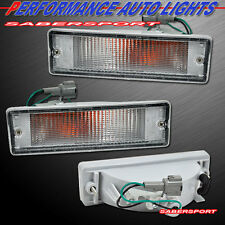 PAIR CLEAR BUMPER LIGHTS FOR 88-97 NISSAN HARDBODY PICKUP 88-95 PATHFINDER