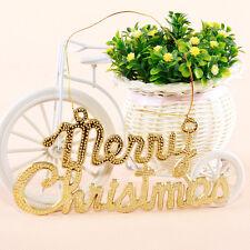 2 Pcs Merry Christmas Xmas Tree Hanging Ornaments Decoration Home Party Decor