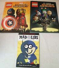 SDCC Comic Con 2016 Marvel DC Lego Promo Comic Book & Mad Libs Exclusive
