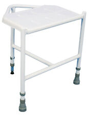 Aidapt Pembury Height Adjustable Corner Shower Stool Seat With Three Legs