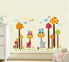 Cute Deer Jungle Wall Sticker Decal Kids Baby Room Mural Paper Home Art Decor