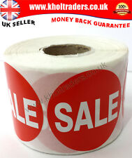 SALE 500 x RED PRICE SELF ADHESIVE STICKERS STICKY LABELS FOR RETAIL