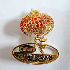 Rare culture logo for China 2008 Beijing Olympic souvenirs crystal pin badge