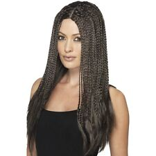 Women's Brown 1990's Braid Wig Reggae Caribbean Style Fancy Dress Hen Night Fun