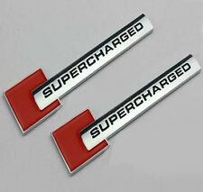 2x Metal Car SUPERCHARGED Emblems Badge Decal Sticker For BMW VW Audi Ford BENZ