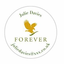 Personalised labels forever living products stickers adresse ronde