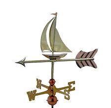 Barco De Vela De Cobre Weathervane