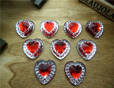 NEW 30pcs 12MM size Resin heart FlatBack Scrapbooking for /wedding/crafts AB06