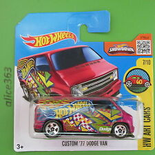 HOT WHEELS 2016 -  Custom ´77 Dodge Van  -  HW Art Cars -  197  -  neu in OVP