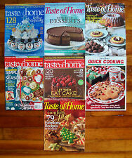 Taste of Home Magazine 7 Issues Recipes Christmas Holiday Cookies Dinners