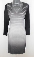 Ted Baker Grey Ombre Tiered Stretch Evening Occasion Day Dress Size 12/14