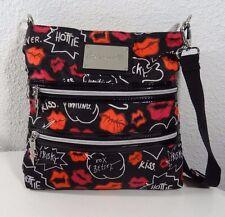 Betseyville Kisses women's cross body bag black & red