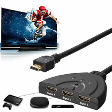 3 Port HDMI Switch Umschalter Splitter Verteiler Kabel Adapter 1080P Full HDTV