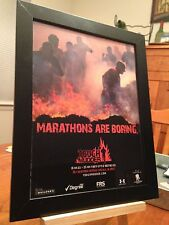"FRAMED ORIGINAL 2012 ""TOUGH MUDDER"" MILITARY-STYLE OBSTACLE COURSE RACE PROMO AD"