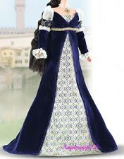 italian renaissance barbie dress fits model muse silk stone royalty Barbie