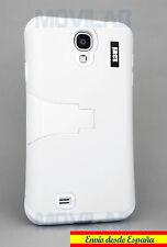 Funda Samsung I9505 / I9500 Galaxy S4 protectora / bumper con soporte blanca bla