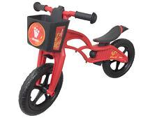 2016 Weehoo iGo Balance Bike Kids Learn to Ride Push Bicycle Red Flames Basket
