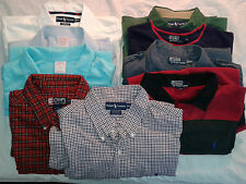 LOT OF NINE MENS POLO RALPH LAUREN BROOKS BROTHERS CHAPS SHIRTS POLO XXL 2XL