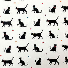 Black Cat Wrapping Paper FOUR Sheets Saver Gift Wrap Cute Novelty Two Free Tags
