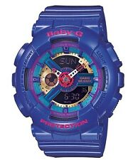 Casio Baby-G * BA112-2A Anadigi Gloss Metallic Roya Blue for Women COD PayPal