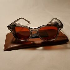 American Optical Vintage NOS safety glasses w/ Side Shields - 48 Med   Red-AMBER
