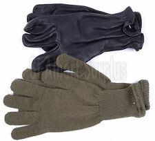 ARMY GLOVES - LEATHER & WOOL - NEW - LARGE - 499NN