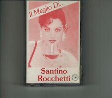 """SANTINO ROCCHETTI """" IL MEGLIO DI"""" I ROKKETTI CASSETTE ITALO MC SIGLA NEW SEALED"""