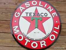 LARGE TEXACO GAS PUMP SIGN OLD VINTAGE ANTIQUE STYLE SIGNS,METAL,SHOP,GARAGE, #T