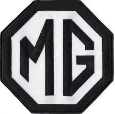 """Large MG Black white 6""""  logo embroidered patch"""