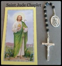 SAINT St. Jude CHAPLET w/ Holy Card & Prayer BLACK