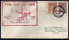 ARGENTINA 1940 FIRST LAUNCHING OF DELTARGENTINO SHIP COVER TO US