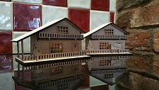 Wooden Swiss  Alpine Chalet House Illuminated Decoration Adult Childrens Craft