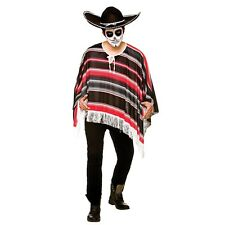 Fancy Dress Mexican Western Wild West Cowboy Poncho Day Of The Dead Halloween