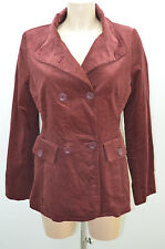 TEX VESTE 38 M MARRON VELOURS JACKET CHAQUETA NEUF