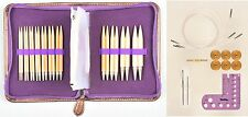 Gift Set TULIP CARRY C Interchangeable Gold Plated Bamboo Circular Needles