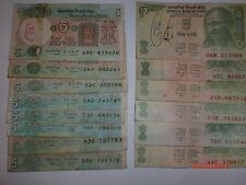 - INDIA PAPER MONEY - 14  OLD & NEW 'MG'  NOTES - RS. 5/-  NIL YEAR- 2011#E11mii